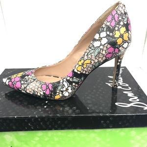 Sam Edelman Hazel Pointy Toe Pump Retro Floral